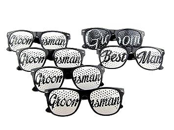 [6 PACK] Bachelor Party Sun Glasses Set for Bachelor Party - Groom Party Favors  sc 1 st  Amazon.com & Amazon.com: [6 PACK] Bachelor Party Sun Glasses Set for Bachelor ...