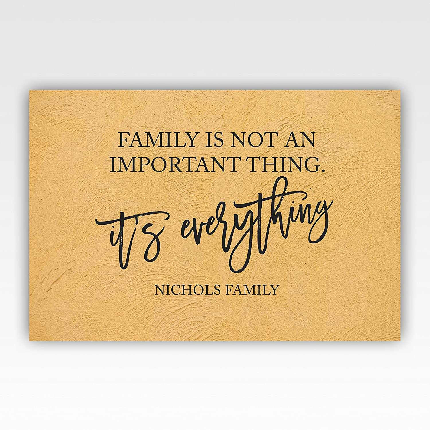 Amazon.com: Personalized!! Family Is Not An Important Thing, It\'s ...