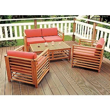 Loungemöbel holz  Amazon.de: MERXX Garten-Loungemöbel-Set aus FSC-Holz inkl. Kissen ...