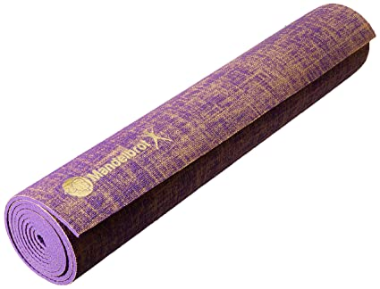 Amazon.com : Mandelbrot Yoga X Royal Series | Jute Yoga Mat ...