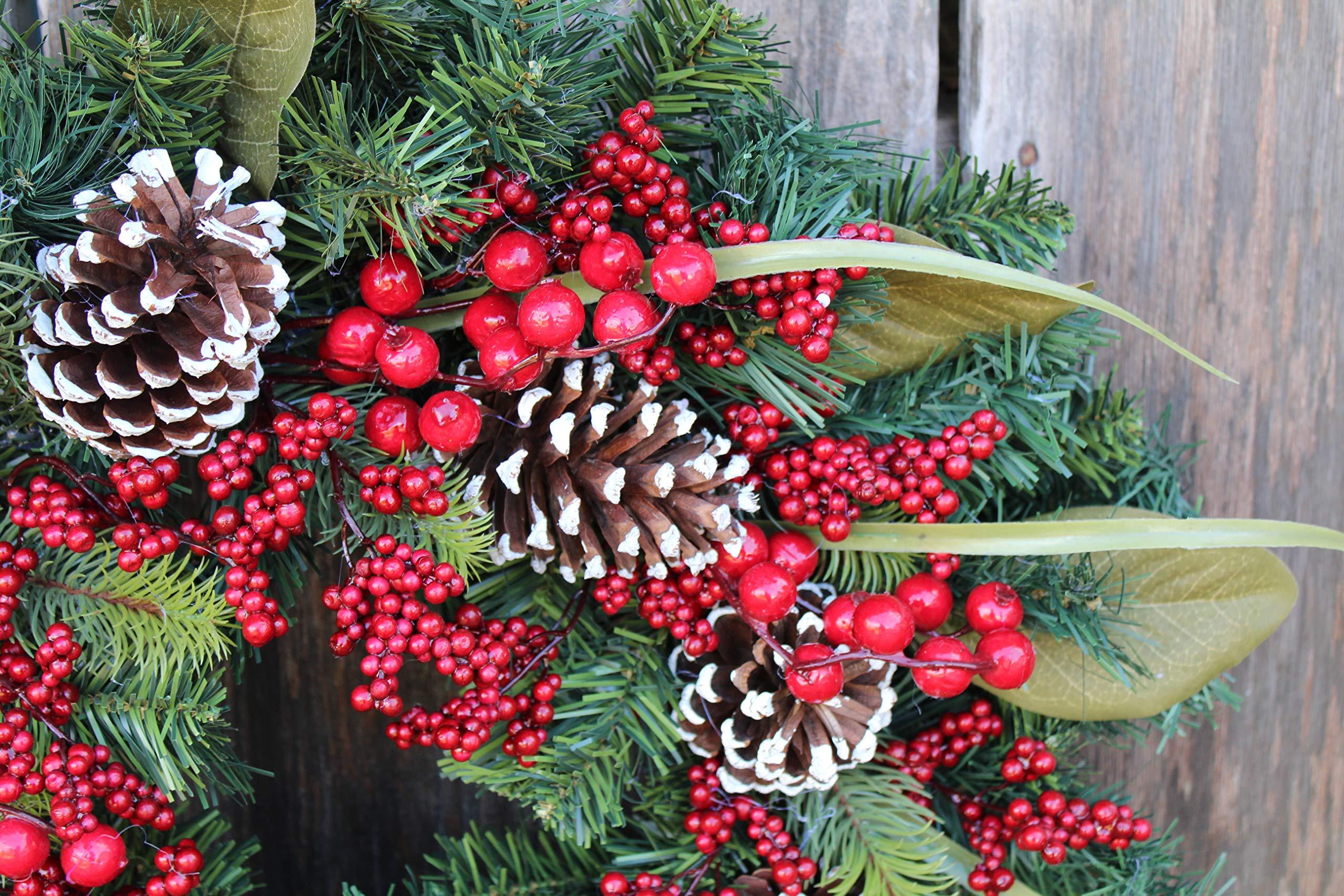 The Wreath Depot Tunbridge Winter Berry Wreath, 22 Inch