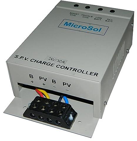Microsol 24V 30 Ampere PWMSolar Charge Controller
