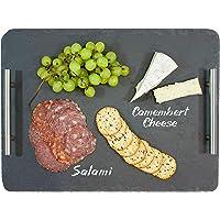 Oenophilia Slate Cheese Board with Handles