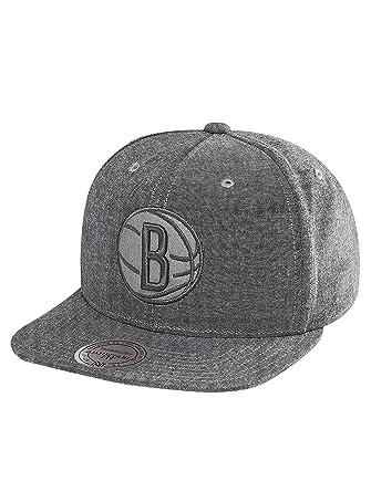 203b97f9513 Mitchell   Ness Men Caps Snapback Cap NBA Italian Washed Brooklyn Nets Grey  Adjustable