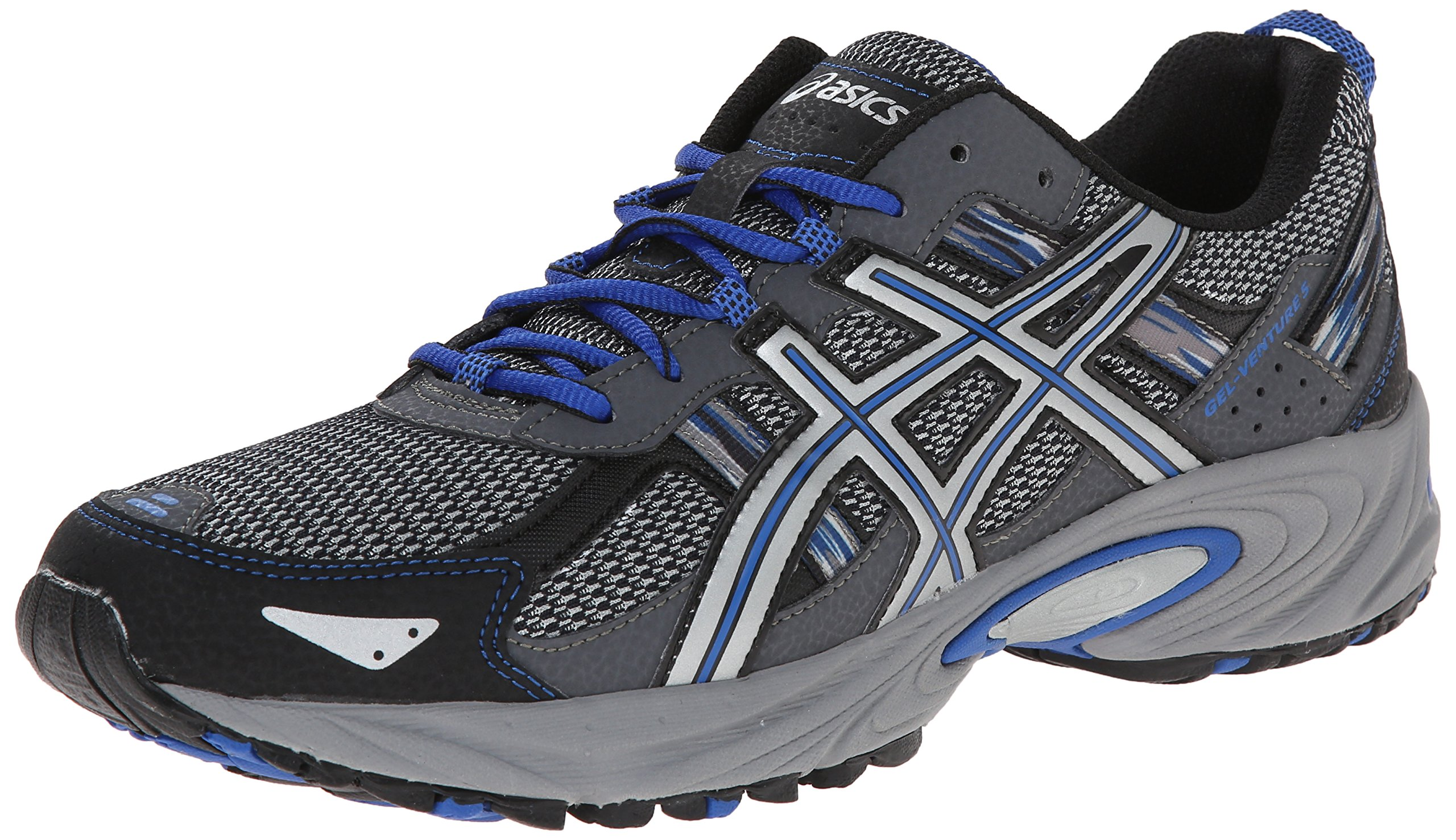 ASICS Men's Gel Venture 5 Running Shoe, Silver/Light Grey/Royal, 10.5 M US by ASICS