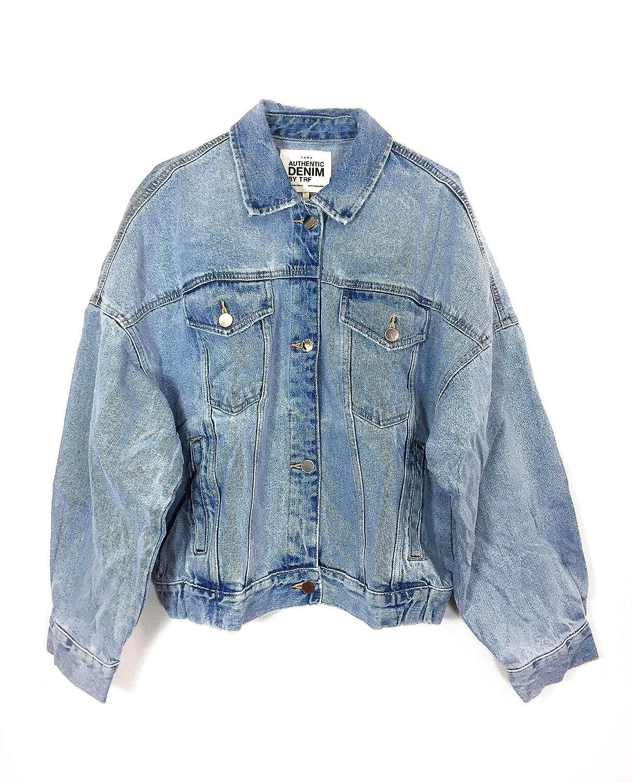 fdbf0dff Zara Women's Denim Jacket with Voluminous Sleeves 9123/010: Amazon ...