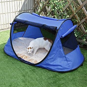 Petsfit Indoor Outdoor Cat Enclosure Portable Tent for Yard Balcony Deck 52u0026quot;x32u0026quot;x23u0026quot & Amazon.com : Petsfit Indoor Outdoor Cat Enclosure Portable Tent ...