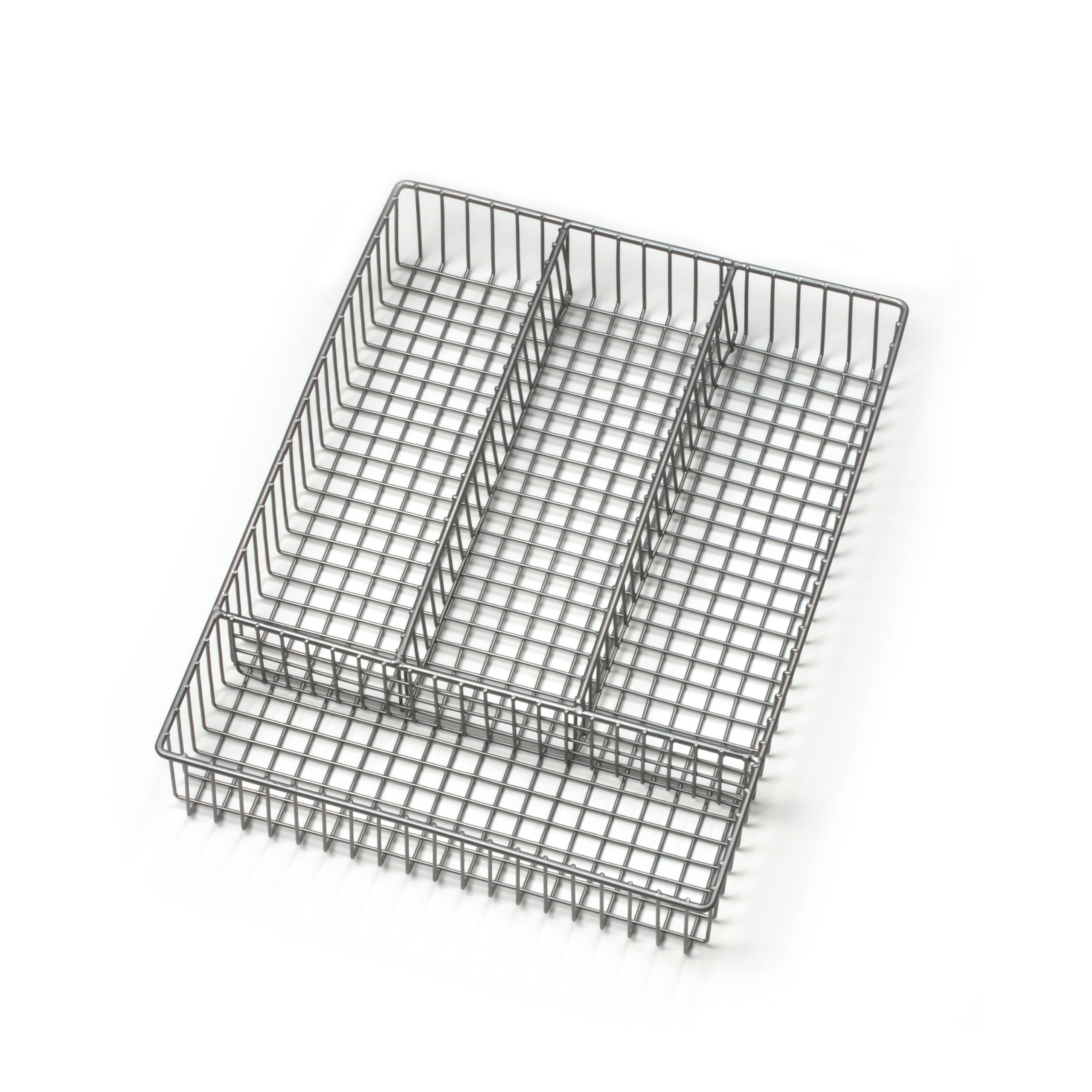Spectrum Diversified Grid Silverware Tray, Small, Satin Nickel