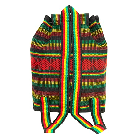 Amazon.com | PINZON Large Unisex Hippie Backpack Woven Canvas Rucksack Mexican Baja Boho Aztec Girls School Bags Boys Foldable Bag Casual Daypack for Beach ...