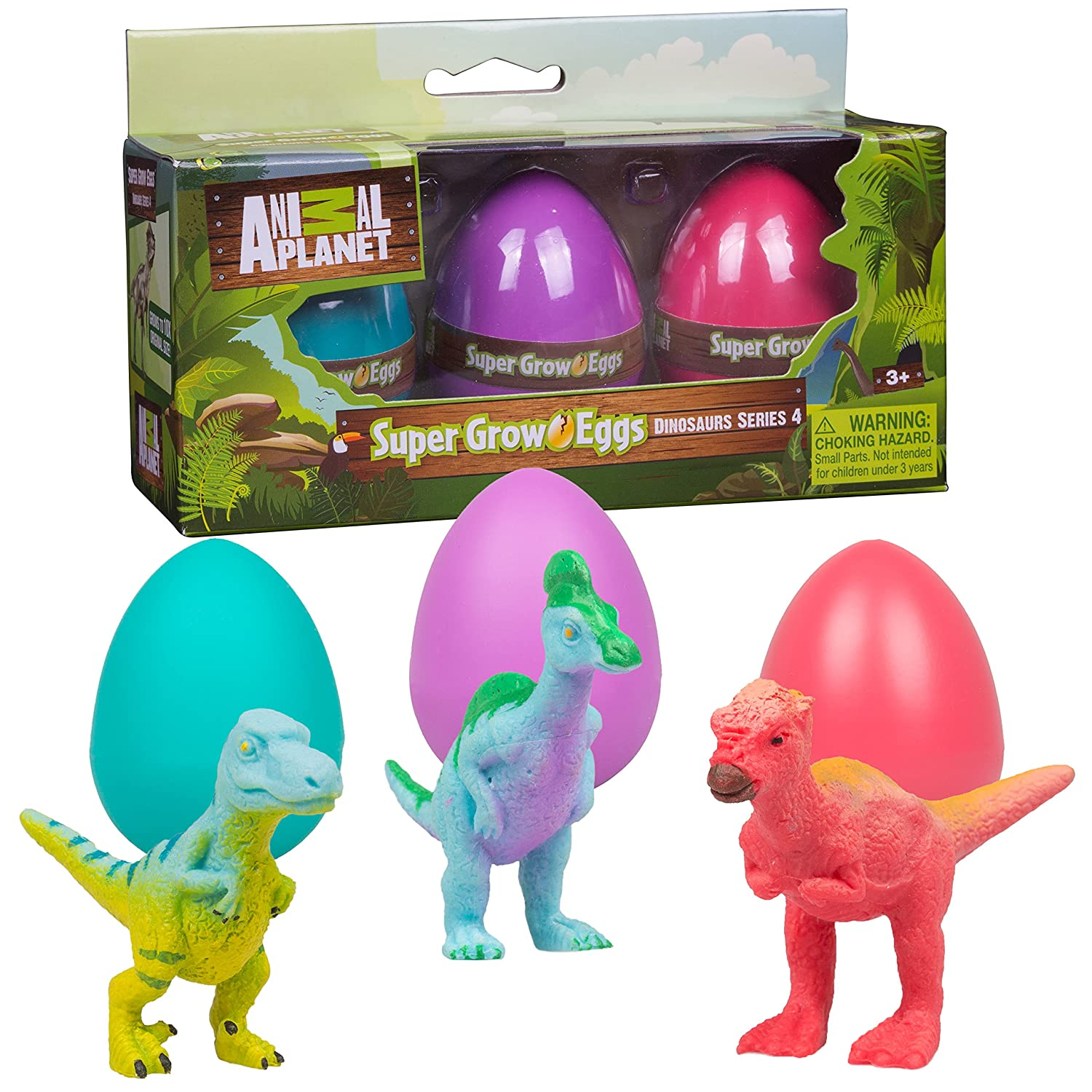Animal Planet Dinosaur Easter Grow Eggs 3 Educational Toys Hatch and Grow Your Own Dino Pet Series 4