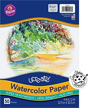 Ucreate White And Thick Paper For Watercolor