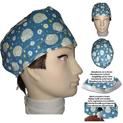 Cappello chirurgico. Ricci. per i capelli corti. Donna. e uomo ... 5abfcceb1689