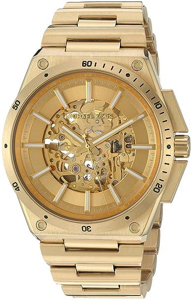 Michael Kors - Hombres De Wilder Tono Dorado Reloj mk9027: Amazon.es: Relojes