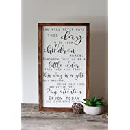 What children need most, let them be little framed inspiration, modern rustic farmhouse decor, fixer upper style, wood, 14x24