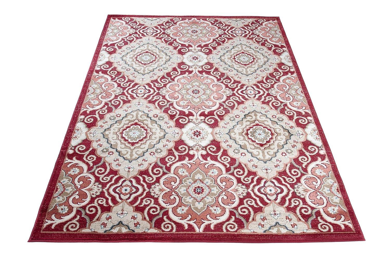 Carpeto Rugs Teppich Orientalisch Rot Wohnzimmer Esszimmer 140 x x x 200 cm M B07M8S37FV Teppiche d6e7ea