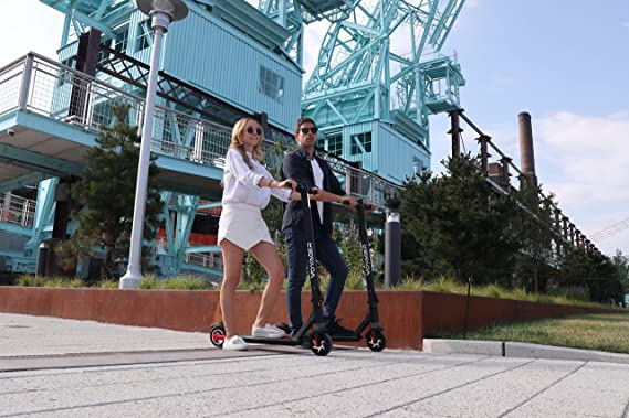 Voyager Ion Foldable Electric Scooter with LCD Display, LED Headlight, 12.5 MPH Max Speed, Long Range Battery up to 7 Miles