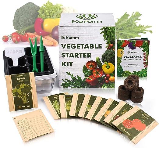 KORAM Kit de inicio para hortalizas - 10 semillas orgánicas de ...