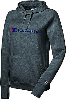 Champion Women's Powerblend Fleece Pullover Hoodie Sweater, Granite Heather, L W0934G