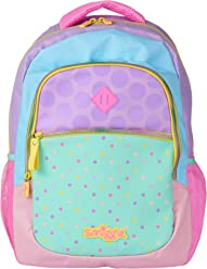 Smiggle Kids School Backpack from The Block Collection for Boys and Girls with 3 Zipped compartments and Drink Bottle Sleeve Khaki