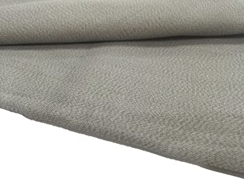 JWtextec 55%Silver Fiber Conductive Fabric Anti Radiation Shielding Fabric  (57x19 685 Inches(1 45mX0 5m))