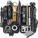 EILIKS Survival Gear Kit, Emergency EDC Survival Tools 24 in 1 SOS Earthquake Aid Equipment, Cool Top Gadgets Valentines Birt