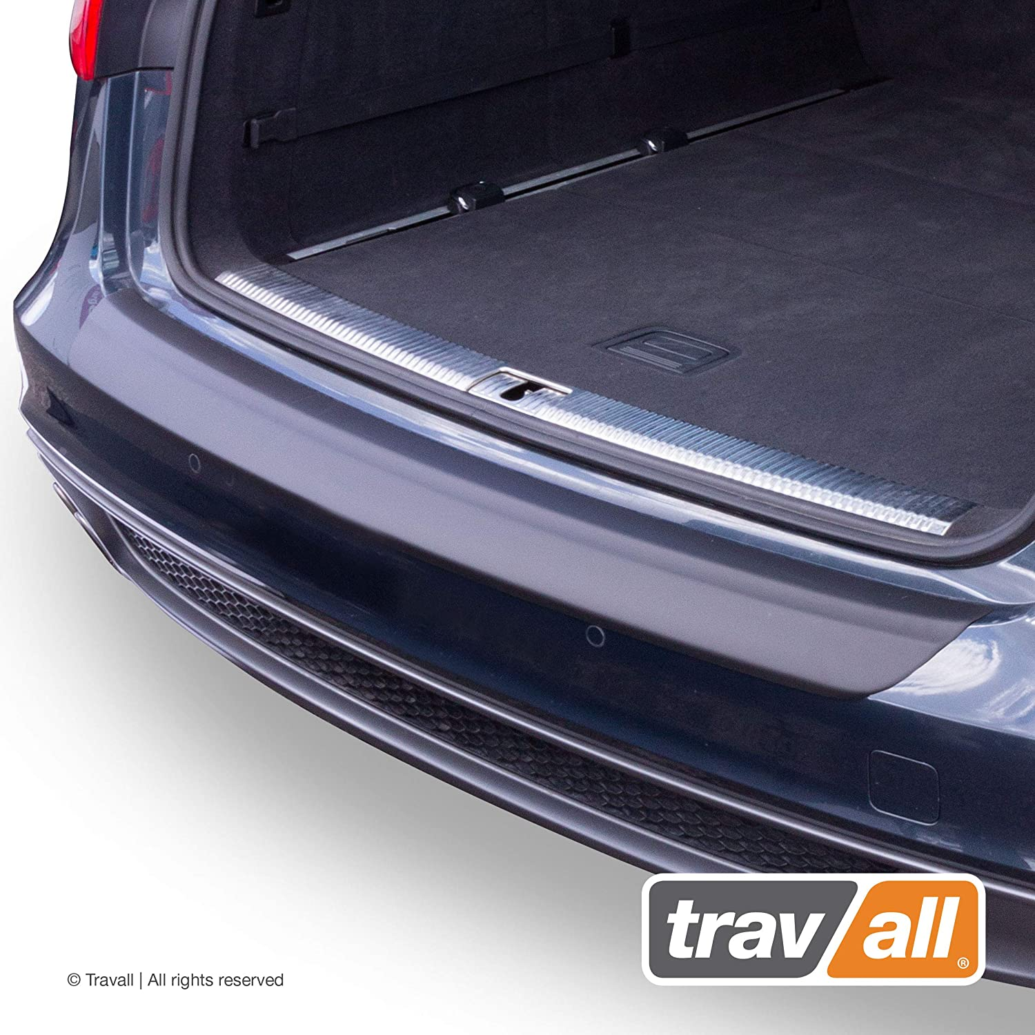 Travall Protector TBP1039P - Vehicle-Specific Black Plastic Moulded Rear Bumper Protector [Smooth]
