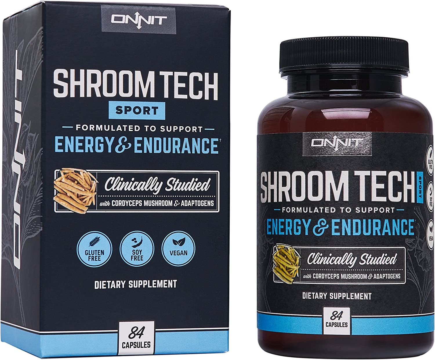 Onnit Shroom Tech Sport: Clinically Studied Preworkout Supplement with Cordyceps Mushroom (84ct): Health & Personal Care