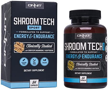 Onnit Shroom Tech Sport Clinically Studied Preworkout Supplement with Cordyceps Mushroom 84ct