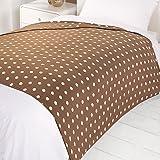 Dreamscene Cosy Spot Design Fleece Blanket Throw, Taupe, 200 x 240 cm