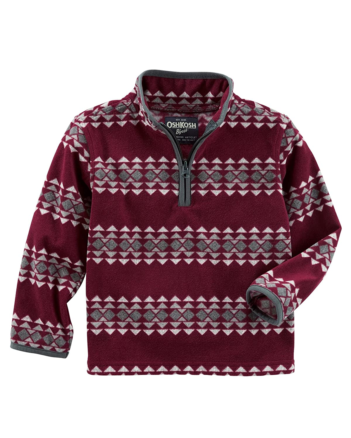 Geo Burgundy, 9M OshKosh BGosh Boys Fleece Cozy 6M--14