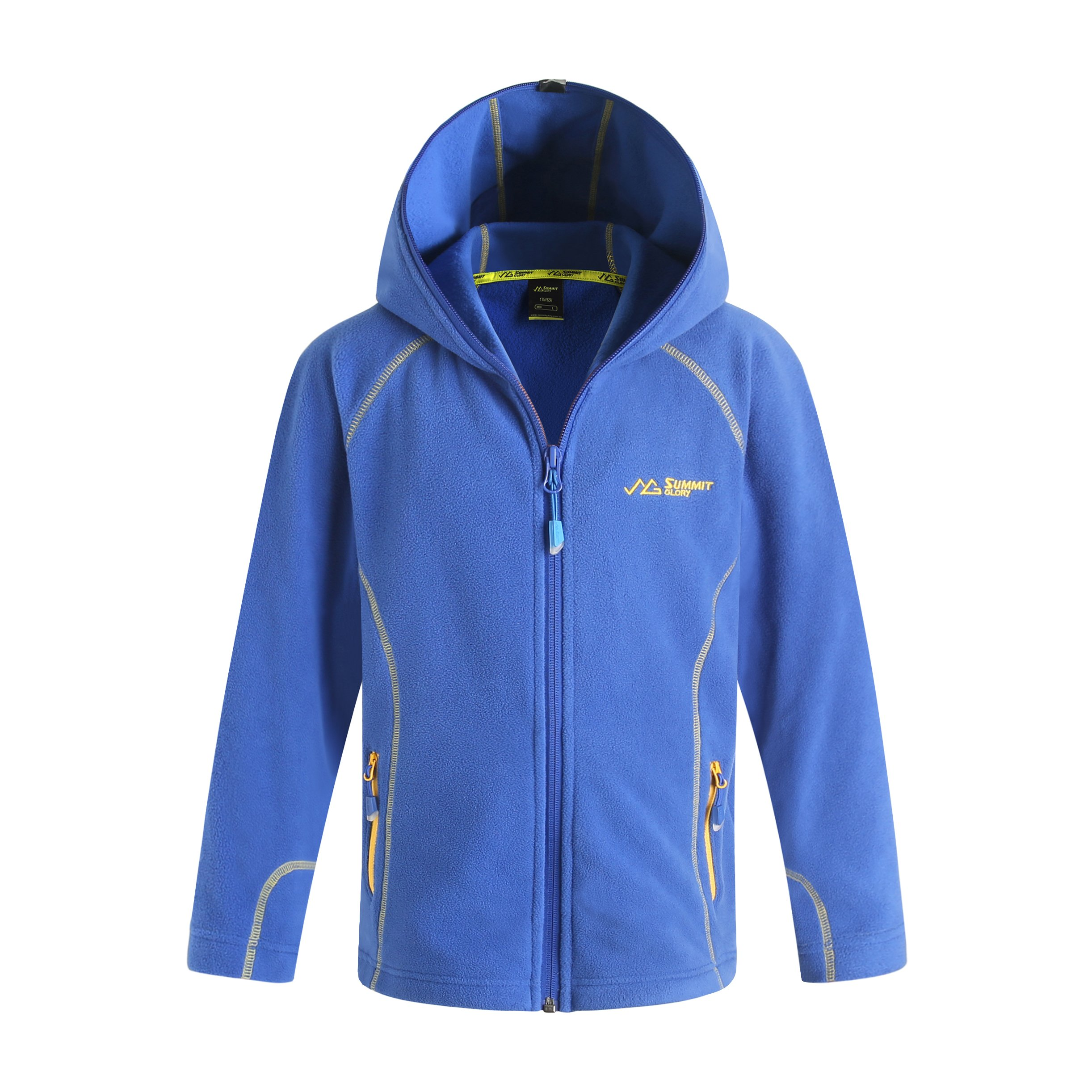Summit Glory Kid's Full-Zip Microfleece Hoodie Jacket Blue 100
