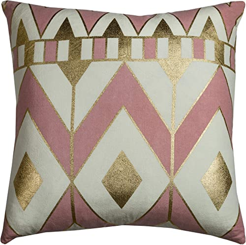 Rizzy Home T10540 Decorative Pillow, 20 X20 , Pink