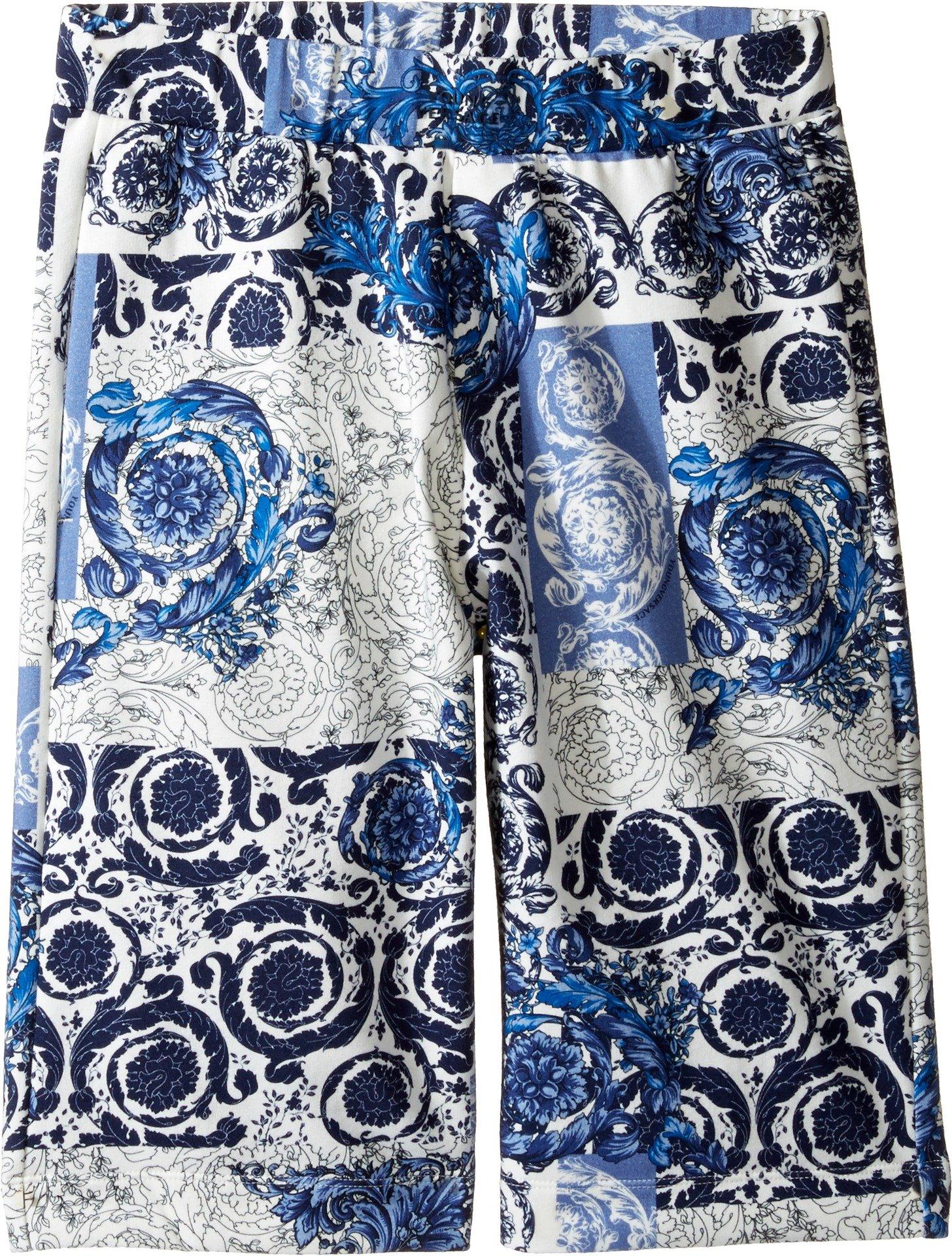 Versace Kids Boy's All Over Barocco Print Sweatshorts (Big Kids) Multi Shorts