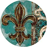 Thirstystone Drink Coaster Set, Teal Fleur de Lis