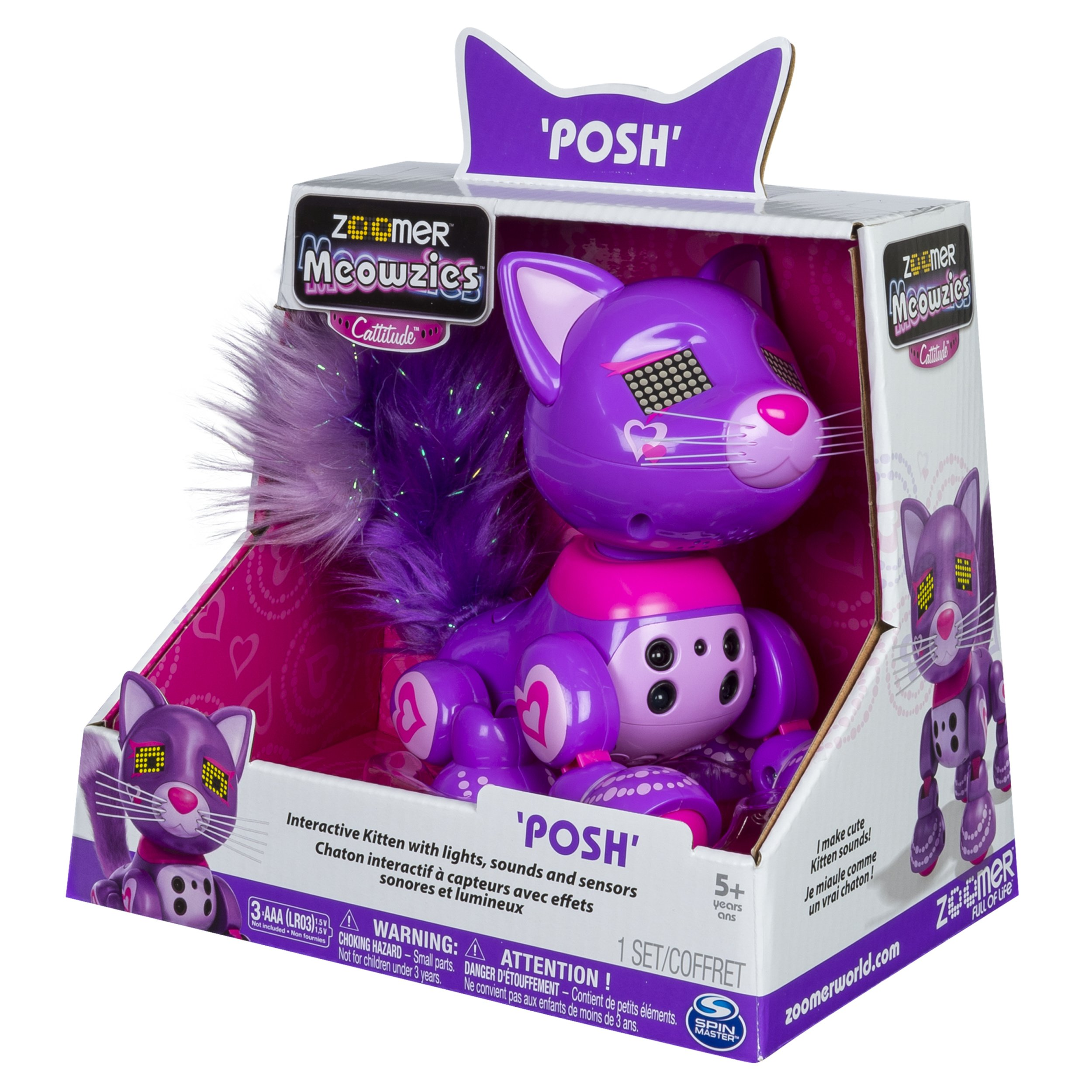 Zoomer Meowzies, Posh, Interactive Kitten with Lights, Sounds and Sensors by Zoomer (Image #8)