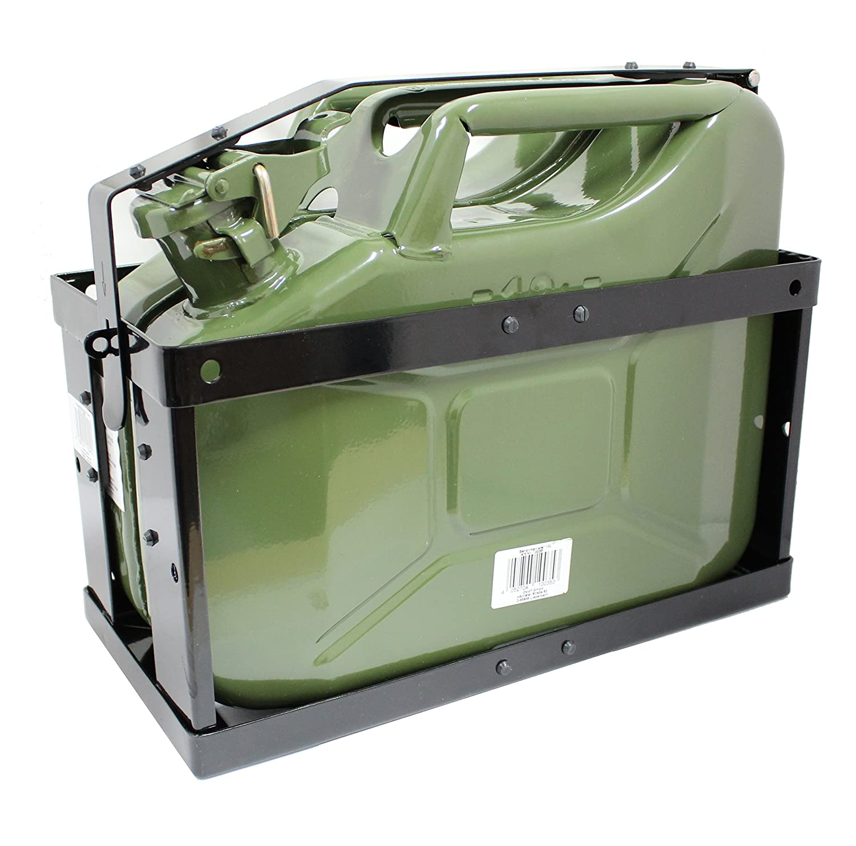 Oxid7® Kanisterhalterung für 10 oder 20 Liter Metall Kanister - Benzinkanister Halterung abschließbar für 10L Metallkanister 4052704056681