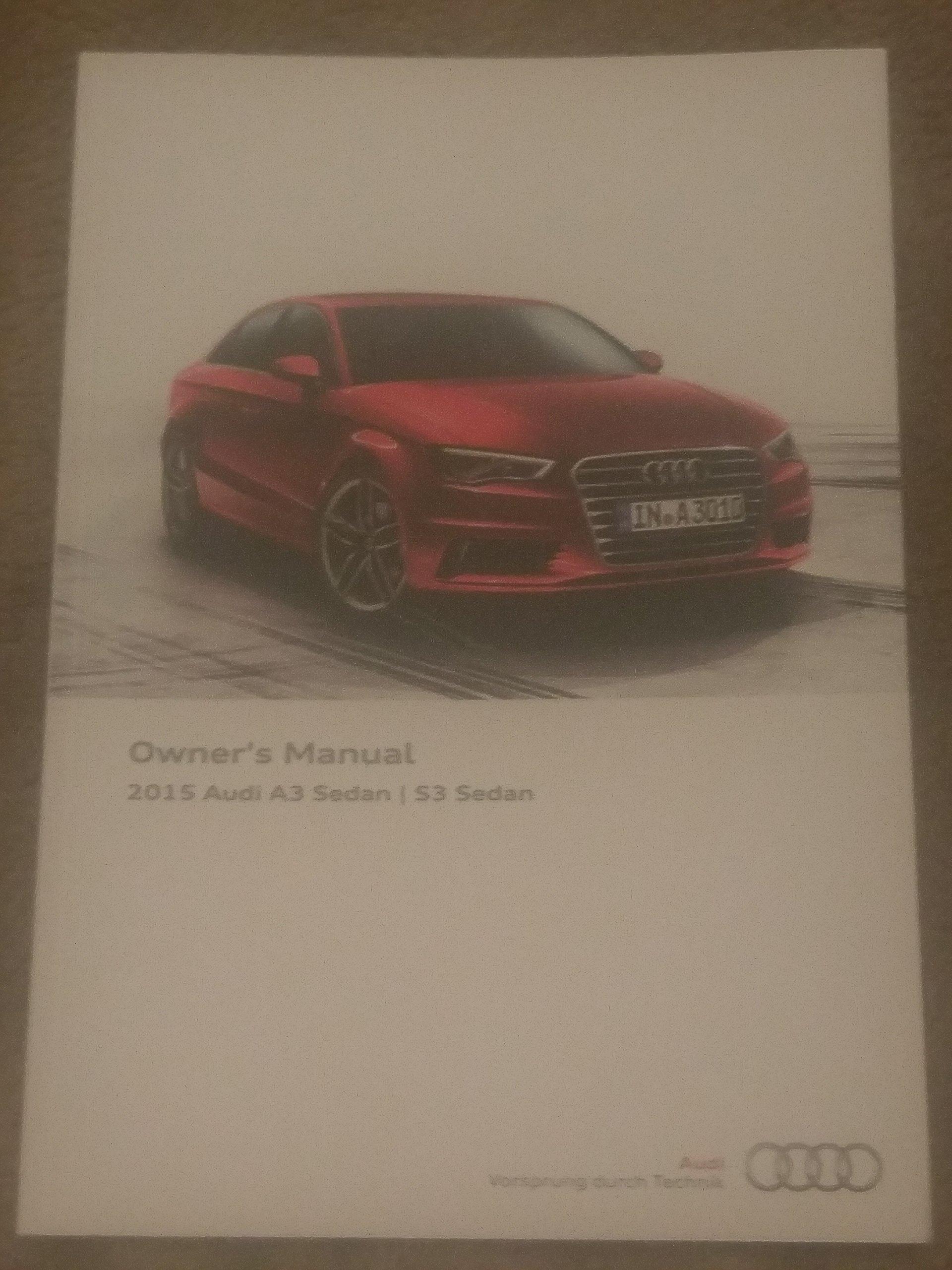 2015 audi a3 owner s manual audi 0759624999619 amazon com books rh amazon com audi a3 2015 owners manual pdf 2015 audi a3 1.8t owners manual