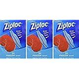 Ziploc Freezer Bags Quart, 54 Count, (Pack of 3)