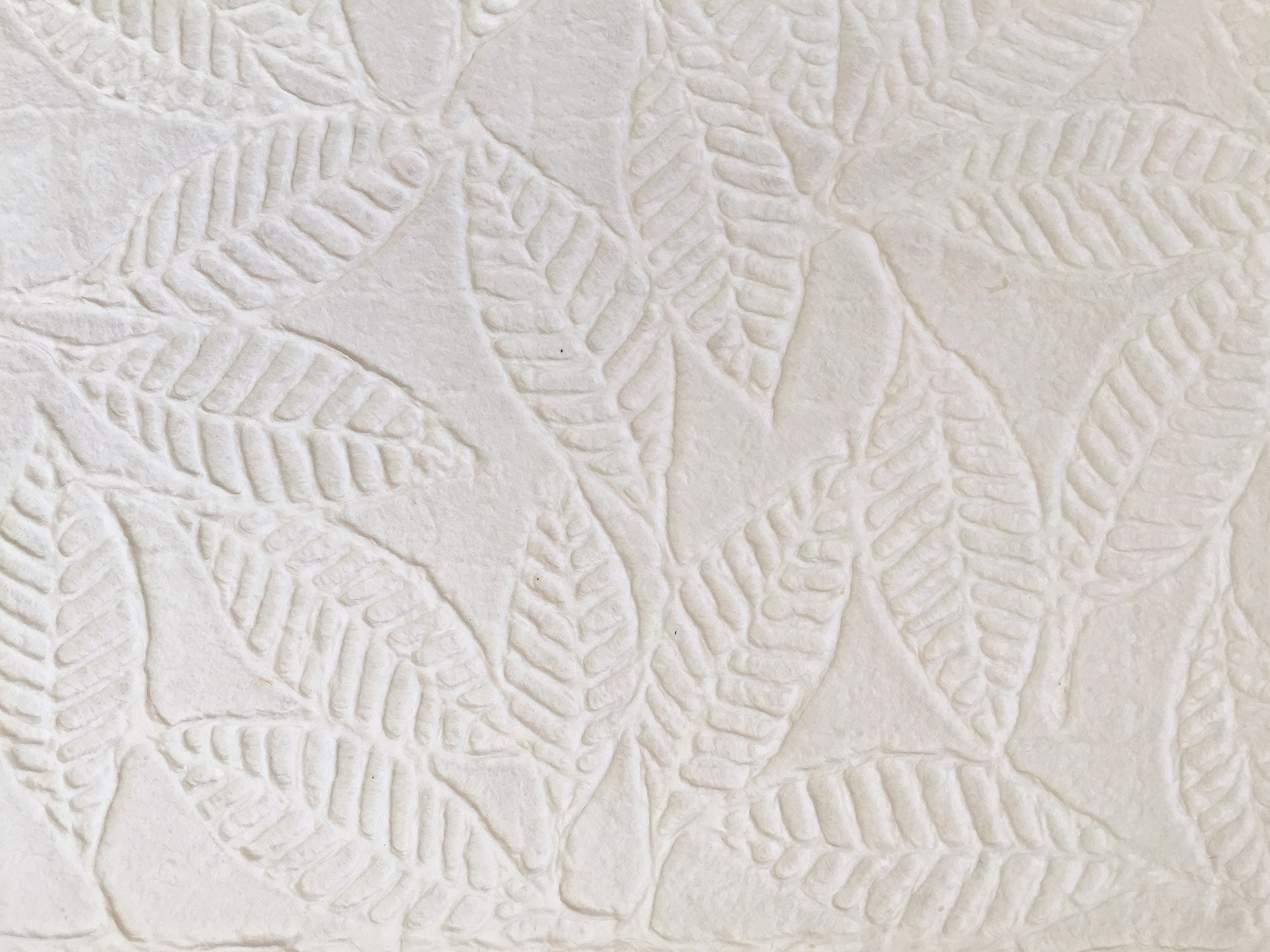 3 Sheets - Eco Friendly Fine Handmade EMBOSSED LEAVES MULBERRY PAPER B562
