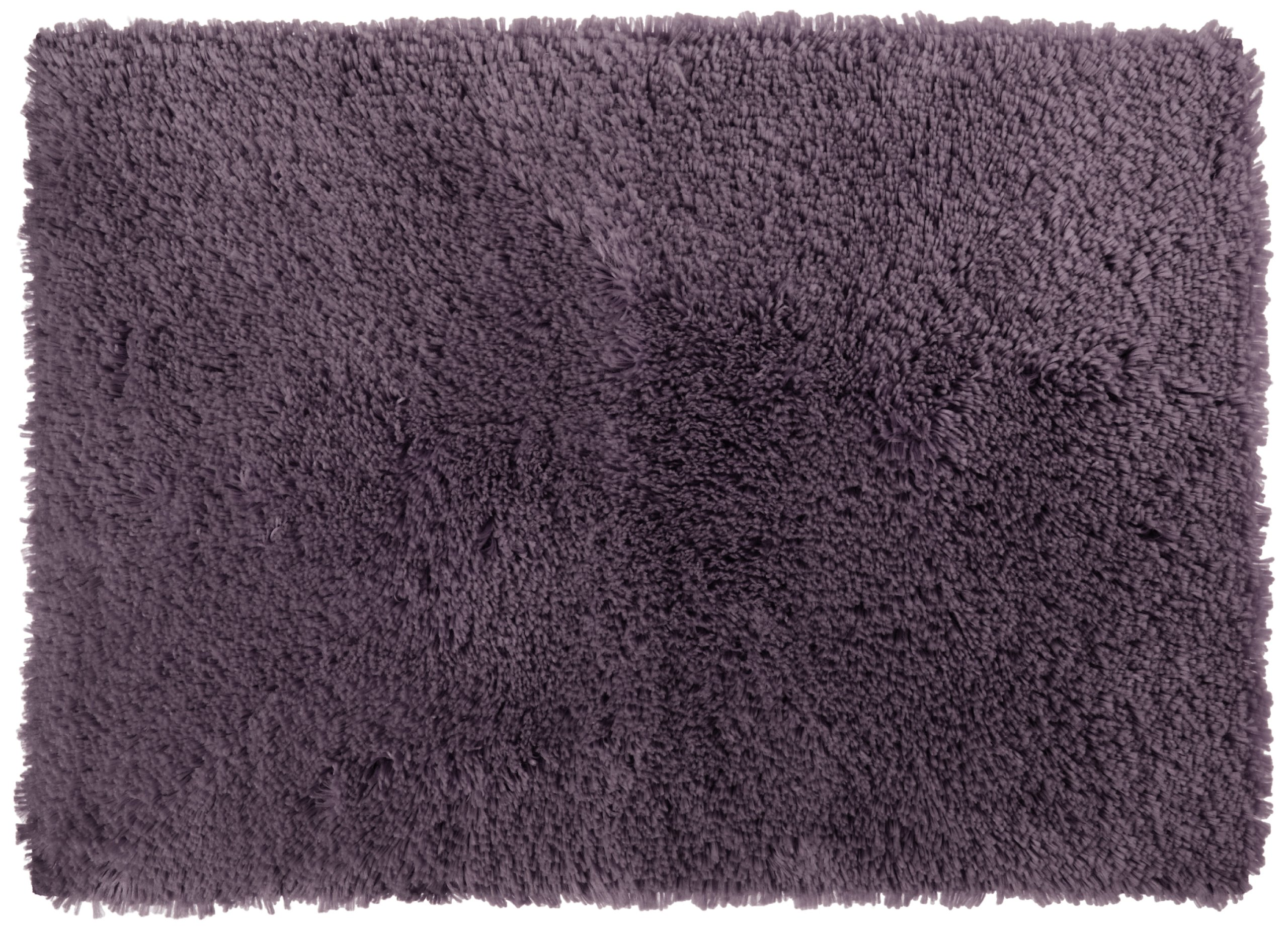 Welspun Crowning Touch Luxurious Non-Slip Bath Rug, 17 by 24-Inch, Eggplant