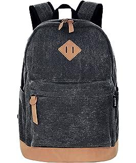 Unisex Lightweight Canvas College Backpacks Travel Hiking Laptop Backpack  Rucksack Schoolbags School Book bag Daypack 9994e5bee1
