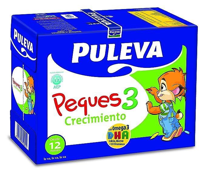 Puleva Peques 3 Leche Infantil Crecimiento - Pack 6 x 1 L