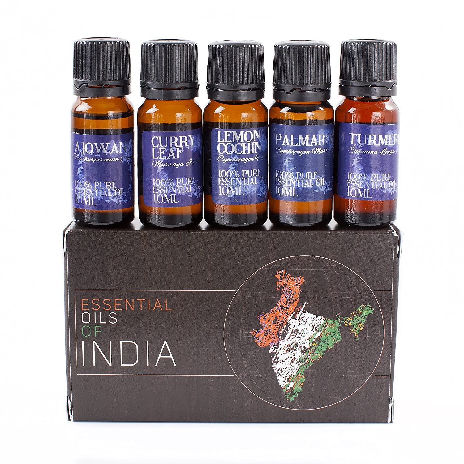 Gift Starter Pack of 5x10ml Essential Oils Of India Mystic Moments SP10EOINDI