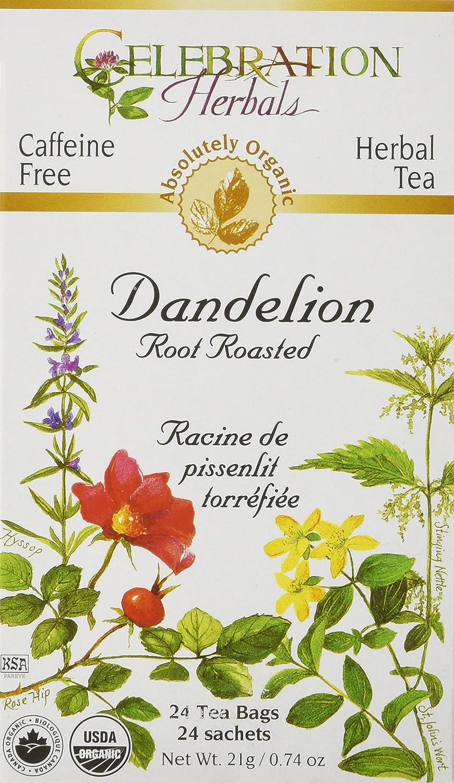 CELEBRATION HERBALS Dandelion Root Roasted Tea Organic 24 Bag, 0.02 Pound