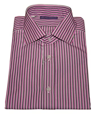 Polo Purple Mens Pink Stripe Label Black Ralph Shirt Dress Lauren KcFJl1