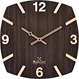 Bsquare 12 Inches Handcrafted Wooden Wall Clock