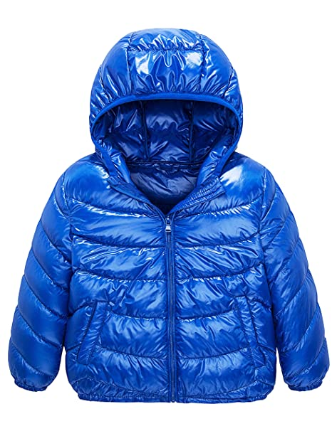 316d02fa7d59 IKALI Boys   Girls Ultra Light Down Packable Hooded Coat