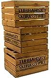 """3 Stück massive Obstkisten """"TS"""" Weinkisten Apfelkisten Holzkisten Shabby Vintage xxxgebrauchtxxx"""