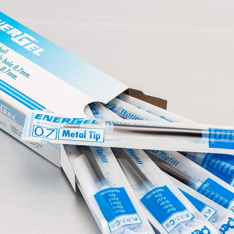 Pentel LR7 ricarica per penna roller EnerGel 0,35 mm tratto 12 pezzi blu /Ø 0,7 mm
