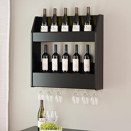 Flotante Soporte de almacenamiento de rack de licor botella de vidrio de vino Bar Soporte de